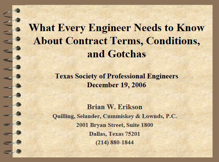 What Every Engineer Needs to Know About Contract Provisions
